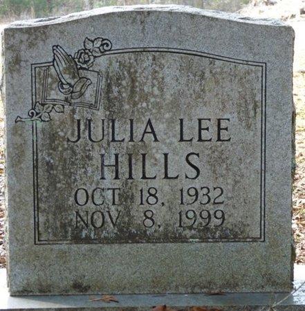 HILLS, JULIA LEE - Wakulla County, Florida | JULIA LEE HILLS - Florida Gravestone Photos