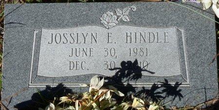 HINDLE, JOSSLYN E - Wakulla County, Florida   JOSSLYN E HINDLE - Florida Gravestone Photos