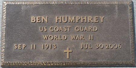 HUMPHREY SR. (VETERAN WWII), BEN D (NEW) - Wakulla County, Florida   BEN D (NEW) HUMPHREY SR. (VETERAN WWII) - Florida Gravestone Photos