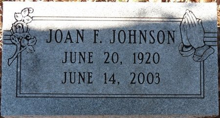 JOHNSON, JOAN F - Wakulla County, Florida | JOAN F JOHNSON - Florida Gravestone Photos