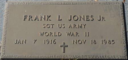 JONES JR. (VETERAN WWII), FRANK L (NEW) - Wakulla County, Florida | FRANK L (NEW) JONES JR. (VETERAN WWII) - Florida Gravestone Photos