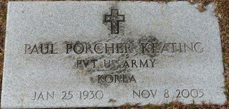 KEATING JR. (VETERAN KOR), PAUL PORCHER (NEW) - Wakulla County, Florida   PAUL PORCHER (NEW) KEATING JR. (VETERAN KOR) - Florida Gravestone Photos