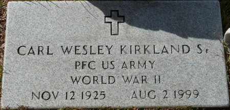 KIRKLAND SR. (VETERAN WWII), CARL WESLEY (NEW) - Wakulla County, Florida   CARL WESLEY (NEW) KIRKLAND SR. (VETERAN WWII) - Florida Gravestone Photos