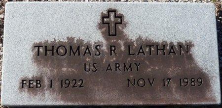LATHAN (VETERAN), THOMAS R (NEW) - Wakulla County, Florida | THOMAS R (NEW) LATHAN (VETERAN) - Florida Gravestone Photos
