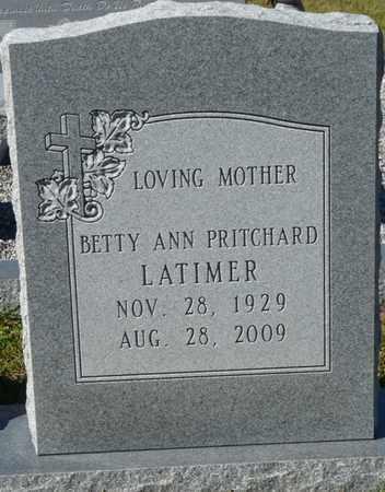 LATIMER, BETTY ANN - Wakulla County, Florida | BETTY ANN LATIMER - Florida Gravestone Photos