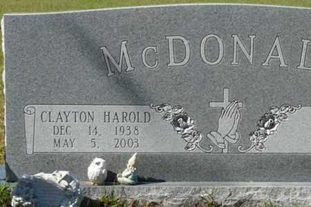 MCDONALD, CLAYTON HAROLD - Wakulla County, Florida   CLAYTON HAROLD MCDONALD - Florida Gravestone Photos