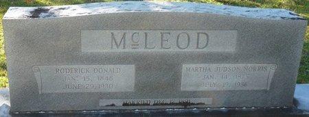 MCLEOD, RODERICK DONALD - Wakulla County, Florida   RODERICK DONALD MCLEOD - Florida Gravestone Photos