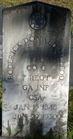 MCLEOD (VETERAN CSA), RODERICK DONALD (NEW) - Wakulla County, Florida | RODERICK DONALD (NEW) MCLEOD (VETERAN CSA) - Florida Gravestone Photos