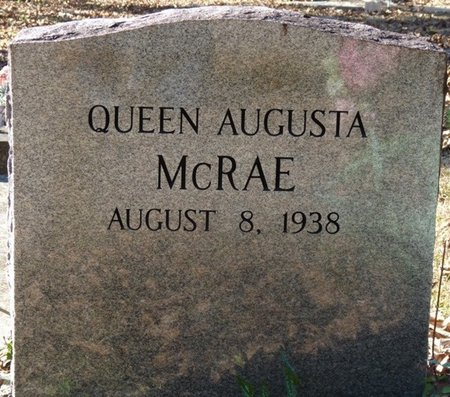 MCRAE, QUEEN AUGUSTA - Wakulla County, Florida | QUEEN AUGUSTA MCRAE - Florida Gravestone Photos