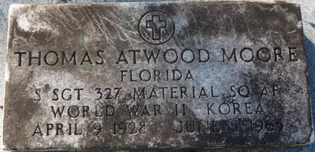 MOORE (VETERAN WWII KOR), THOMAS ATWOOD (NEW) - Wakulla County, Florida | THOMAS ATWOOD (NEW) MOORE (VETERAN WWII KOR) - Florida Gravestone Photos