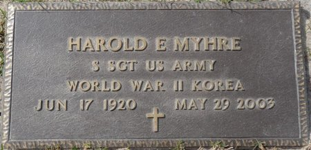 MYHRE (VETERAN WWII KOR), HAROLD EDWARD (NEW) - Wakulla County, Florida   HAROLD EDWARD (NEW) MYHRE (VETERAN WWII KOR) - Florida Gravestone Photos