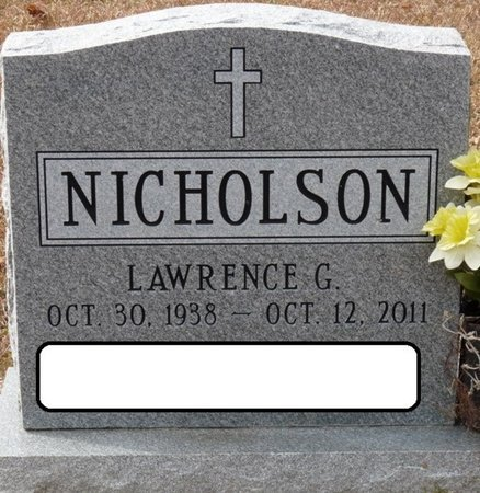 NICHOLSON, LAWRENCE G - Wakulla County, Florida | LAWRENCE G NICHOLSON - Florida Gravestone Photos
