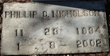 NICHOLSON, PHILLIP C - Wakulla County, Florida   PHILLIP C NICHOLSON - Florida Gravestone Photos