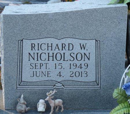 NICHOLSON, RICHARD W - Wakulla County, Florida | RICHARD W NICHOLSON - Florida Gravestone Photos