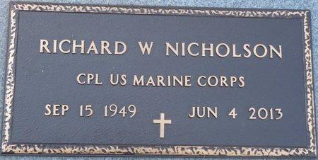 NICHOLSON (VETERAN), RICHARD W (NEW) - Wakulla County, Florida | RICHARD W (NEW) NICHOLSON (VETERAN) - Florida Gravestone Photos