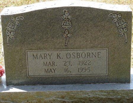 OSBORNE, MARY K - Wakulla County, Florida   MARY K OSBORNE - Florida Gravestone Photos