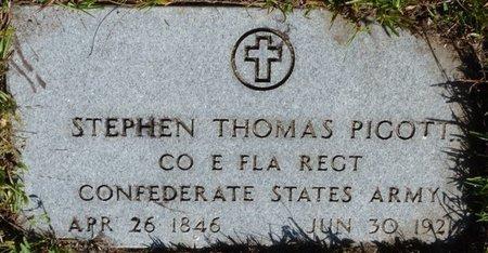 PIGOTT (VETERAN CSA), STEPHEN THOMAS (NEW) - Wakulla County, Florida | STEPHEN THOMAS (NEW) PIGOTT (VETERAN CSA) - Florida Gravestone Photos