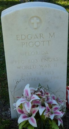 PIGOTT (VETERAN WWII), EDGAR M (NEW) - Wakulla County, Florida | EDGAR M (NEW) PIGOTT (VETERAN WWII) - Florida Gravestone Photos