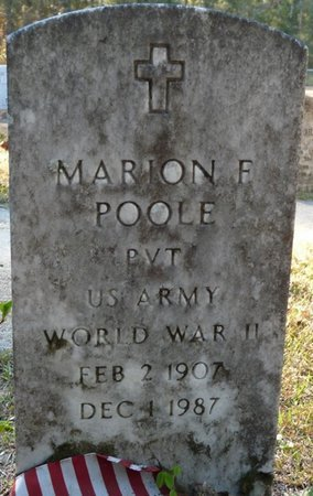 POOLE (VETERAN WWII), MARION F (NEW) - Wakulla County, Florida | MARION F (NEW) POOLE (VETERAN WWII) - Florida Gravestone Photos