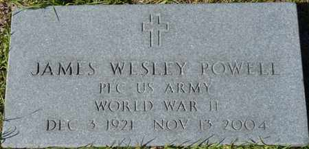 POWELL (VETERAN WWII), JAMES WESLEY (NEW) - Wakulla County, Florida | JAMES WESLEY (NEW) POWELL (VETERAN WWII) - Florida Gravestone Photos