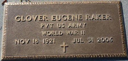 RAKER (VETERAN WWII), GLOVER EUGENE (NEW) - Wakulla County, Florida | GLOVER EUGENE (NEW) RAKER (VETERAN WWII) - Florida Gravestone Photos