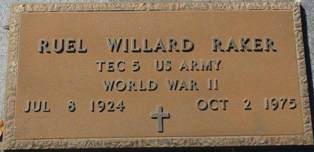 RAKER (VETERAN WWII), RUEL WILLARD (NEW) - Wakulla County, Florida | RUEL WILLARD (NEW) RAKER (VETERAN WWII) - Florida Gravestone Photos