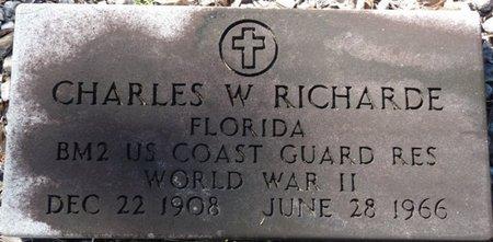 RICHARDE (VETERAN WWII), CHARLES W (NEW) - Wakulla County, Florida | CHARLES W (NEW) RICHARDE (VETERAN WWII) - Florida Gravestone Photos