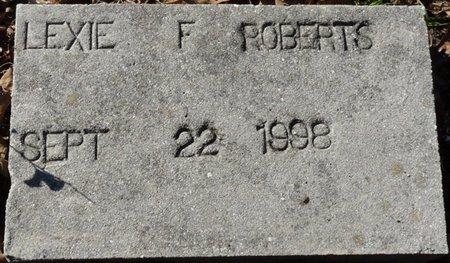 ROBERTS, LEXIE F - Wakulla County, Florida   LEXIE F ROBERTS - Florida Gravestone Photos