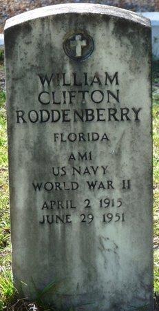 RODDENBERRY (VETERAN WWII), WILLIAM CLIFTON (NEW) - Wakulla County, Florida | WILLIAM CLIFTON (NEW) RODDENBERRY (VETERAN WWII) - Florida Gravestone Photos