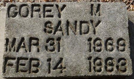 SANDY, COREY M - Wakulla County, Florida | COREY M SANDY - Florida Gravestone Photos