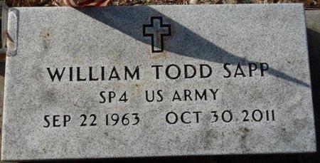 SAPP (VETERAN), WILLIAM TODD (NEW) - Wakulla County, Florida | WILLIAM TODD (NEW) SAPP (VETERAN) - Florida Gravestone Photos
