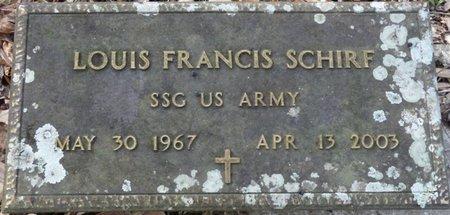 SCHIRF (VETERAN), LOUIS FRANCIS (NEW) - Wakulla County, Florida | LOUIS FRANCIS (NEW) SCHIRF (VETERAN) - Florida Gravestone Photos