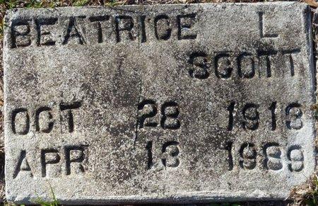 SCOTT, BEATRICE L - Wakulla County, Florida   BEATRICE L SCOTT - Florida Gravestone Photos