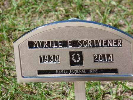SCRIVENER, MYRTLE E - Wakulla County, Florida   MYRTLE E SCRIVENER - Florida Gravestone Photos