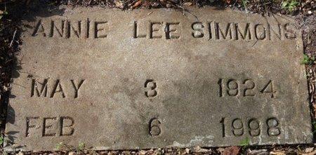 SIMMONS, ANNIE LEE - Wakulla County, Florida | ANNIE LEE SIMMONS - Florida Gravestone Photos