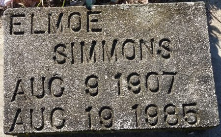 SIMMONS, ELMOE - Wakulla County, Florida | ELMOE SIMMONS - Florida Gravestone Photos