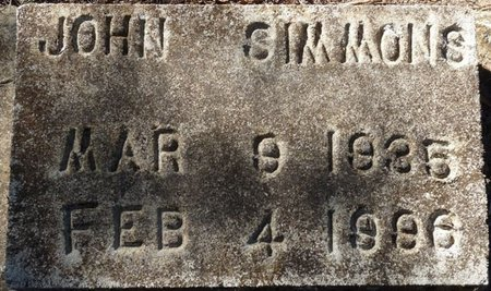 SIMMONS, JOHN - Wakulla County, Florida   JOHN SIMMONS - Florida Gravestone Photos