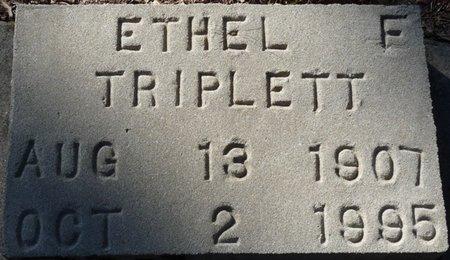 TRIPLETT, ETHEL F - Wakulla County, Florida   ETHEL F TRIPLETT - Florida Gravestone Photos