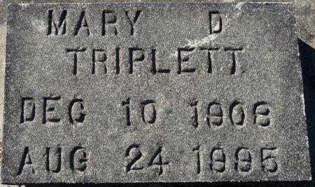 TRIPLETT, MARY - Wakulla County, Florida | MARY TRIPLETT - Florida Gravestone Photos