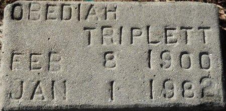 TRIPLETT, OBEDIAH - Wakulla County, Florida   OBEDIAH TRIPLETT - Florida Gravestone Photos