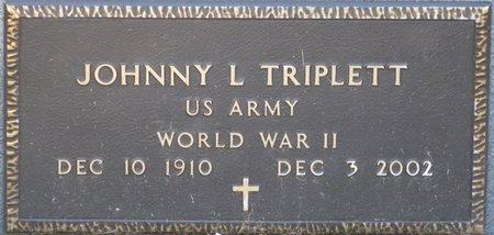 """TRIPLETT (VETERAN WWII), JOHNNY L """"TRIP"""" (NEW) - Wakulla County, Florida   JOHNNY L """"TRIP"""" (NEW) TRIPLETT (VETERAN WWII) - Florida Gravestone Photos"""