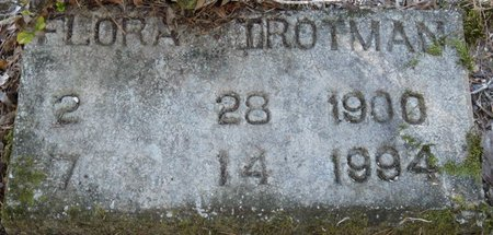 TROTMAN, FLORA - Wakulla County, Florida   FLORA TROTMAN - Florida Gravestone Photos