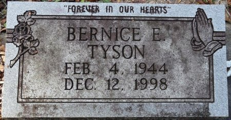 TYSON, BERNICE E - Wakulla County, Florida   BERNICE E TYSON - Florida Gravestone Photos