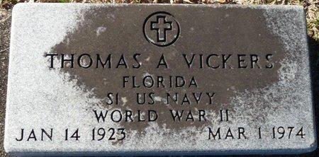 VICKERS (VETERAN WWII), THOMAS A (NEW) - Wakulla County, Florida   THOMAS A (NEW) VICKERS (VETERAN WWII) - Florida Gravestone Photos