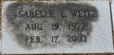 WEITZ, ISABELLE L - Wakulla County, Florida | ISABELLE L WEITZ - Florida Gravestone Photos