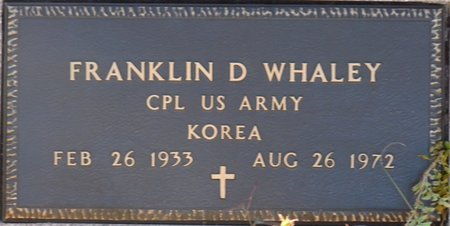 WHALEY (VETERAN KOR), FRANKLIN D (NEW) - Wakulla County, Florida | FRANKLIN D (NEW) WHALEY (VETERAN KOR) - Florida Gravestone Photos