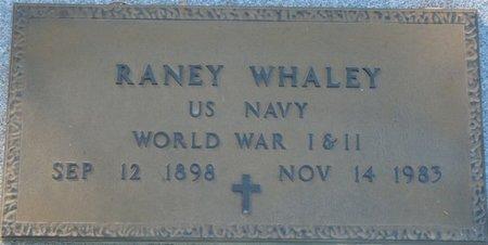 WHALEY (VETERAN WWI  WWII), RANEY (NEW) - Wakulla County, Florida | RANEY (NEW) WHALEY (VETERAN WWI  WWII) - Florida Gravestone Photos