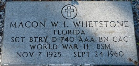WHETSTONE (VETERAN WWII), MACON WAYNE LEROY (NEW) - Wakulla County, Florida | MACON WAYNE LEROY (NEW) WHETSTONE (VETERAN WWII) - Florida Gravestone Photos