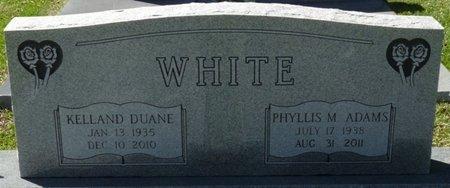ADAMS WHITE, PHYLLIS M - Wakulla County, Florida   PHYLLIS M ADAMS WHITE - Florida Gravestone Photos