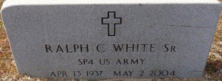 WHITE SR. (VETERAN), RALPH C (NEW) - Wakulla County, Florida   RALPH C (NEW) WHITE SR. (VETERAN) - Florida Gravestone Photos